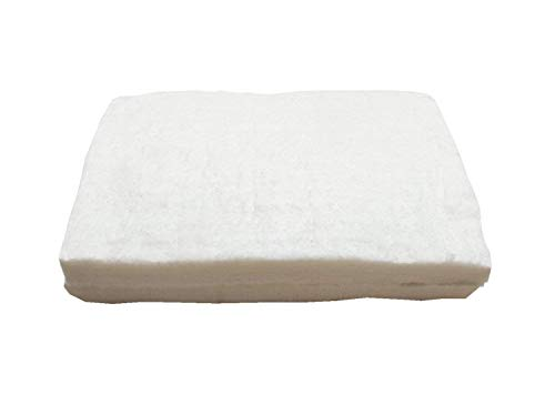 UniTherm Ceramic Fiber Insulation (6# Density, 2300°F), Two (2) (12L X 8H X 1D Inch) Blankets for Lampworking (Flameworking) and Glass Beadmaking