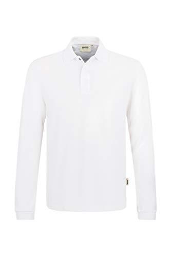 Hakro Longsleeve Poloshirt HACCP Performance, weiß, L