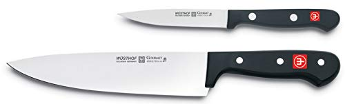"WÜSTHOF Gourmet Two Piece Cook's Knife Set | 2-Piece German Knife Set with 8"" Chef's Knife & 4"" Utility Knife 