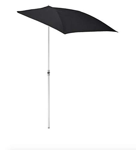 Opulence Trading - Sombrilla Ajustable con protección UV, Color Negro, Ideal para Espacios pequeños