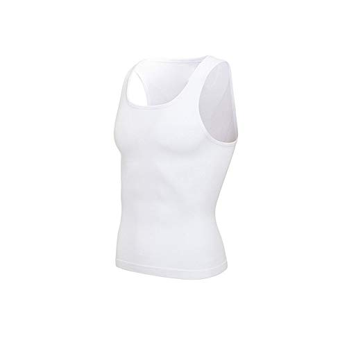 Lendensteun Mannen Afslanken Body Shaper Belly Controle Shapewear Man Shapers Modeling Ondergoed Taille Trainer Corrigerende Posture Vest Corset Rugsteungordel (Color : White Sleeveless, Size : XL)