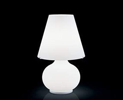 Leucos Paralume G 0406026363602 - Lámpara de mesa (cristal y metal), color blanco
