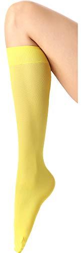 Calcetines altos amarillos para mujer