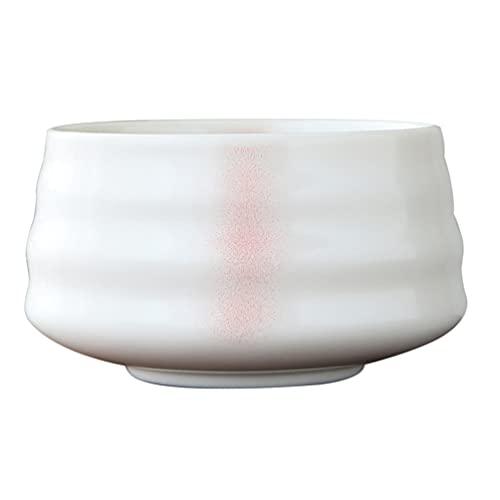 Doitool Matcha Bowl, 1PC White Matcha Tea Bowl, Matcha Ceramic Bowl, Tea Bowls for Matcha, Traditional Ceremonial Accessories