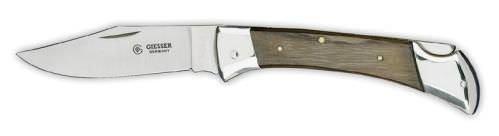 Giesser Messer Taschenschlachtmesser mit 8 cm Klingenlänge, Lange, stabile und feststellbare Klinge, Rostfrei, 7990