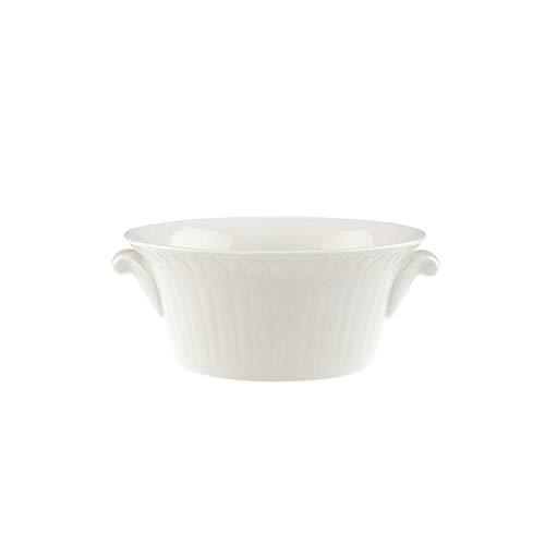 Villeroy & Boch - Cellini tasse à soupe avec décorations en relief filigranes, tasse à soupe blanche avec anse en porcelaine premium, 12,5 cm