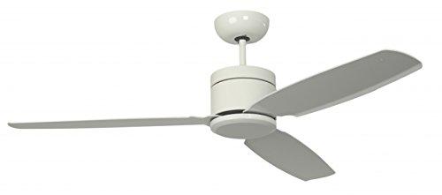 Pepeo energiebesparende plafondventilator Turno inclusief afstandsbediening, chroom, 132201303 wit/wit