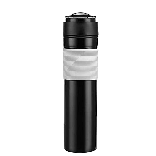 Prensa de viaje de café Utensilios de prensa francesa portátil Filtro de cafetera Taza de café Mini máquina de café de viaje portátil compacta Cápsula de energía de café Regalo de amante del café par
