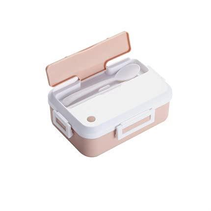 3-teiliges Set Lunch Box Auslaufsicherer tragbarer Mikrowellenherd Lebensmittelbehälter Büro Schulreisen Wandern Kindergesundheitsmaterial Bento Box - Pink, a1