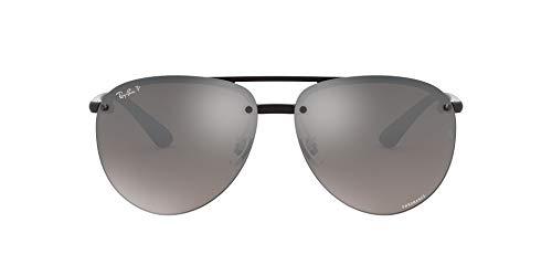 Ray-Ban 0RB4293Ch, Gafas de Sol para Hombre, Negro (Silver Mirror Chromance), 65