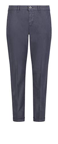 MAC Jeans Damen Chino Turn up Straight Jeans, Blau (Dark Blue PPT 198r), W44 (Herstellergröße: 44/Ol)