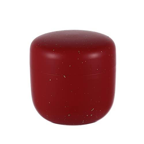 iEFiEL Kerzendosen Leer mit Deckel Teedose für losen Tee Retro Kaffeedose für Kaffee Zucker Gewürze Aufbewahrung Küche Rot One Size
