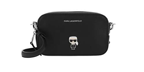 Karl LAGERFELD Damen-Handtasche klein K/Ikonik schwarz MOD. 201W3099, Schwarz Einheitsgröße