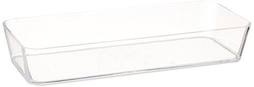 WENKO BandejaorganizadoraCandy transparente - pequeña, Poliestireno, 24 x 4 x 10 cm, Transparente