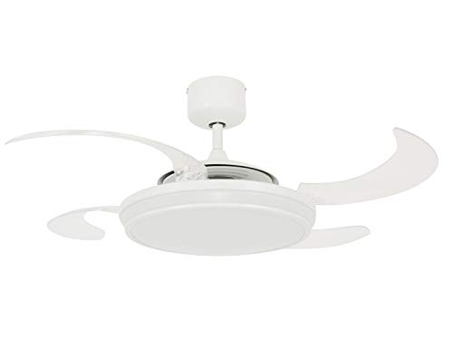 Fanaway 'EVO1 LED dimmerabile LED ventilatore da soffitto' e, Acrilico metallo, White, 122 cm Durchmesser, 1 60 watts 240 volts