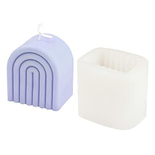 Molde de vela arcoíris, moldes de resina Nuevos moldes de velas de bricolaje Molde de velas de cera Molde de vela de yeso de aromaterapia Molde de arco 3D hecho a mano, molde de silicona de fundición