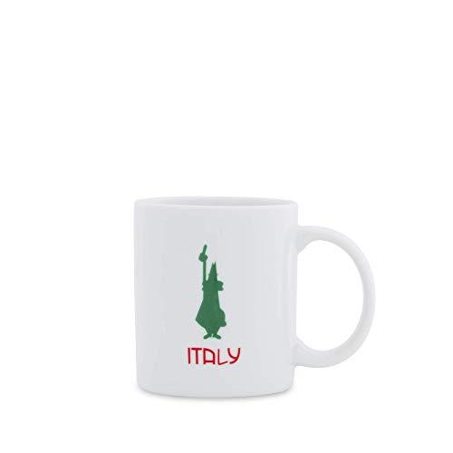 Bialetti DCMOKI0033 Mug Tricolore Istituzionale, Porcellana