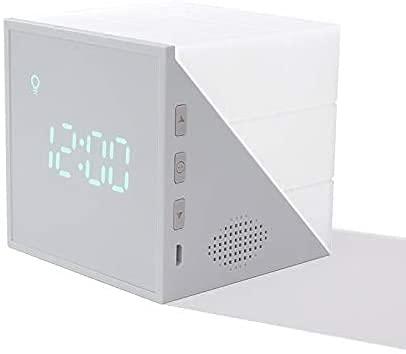 Wake Up Light Despertador Luz, Despertador Simulación de Amanecer y Atardecer, 6 Luces de Colores, Función Snooze, Luz de humor para dormitorio