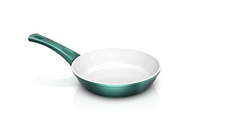 Genius Cerafit Fusion Bratpfanne Ø 20 cm Induktionspfanne Keramikpfanne in Smaragdgrün mit kratzfester Antihaft-Beschichtung für gesundes Kochen ohne Fett und Öl