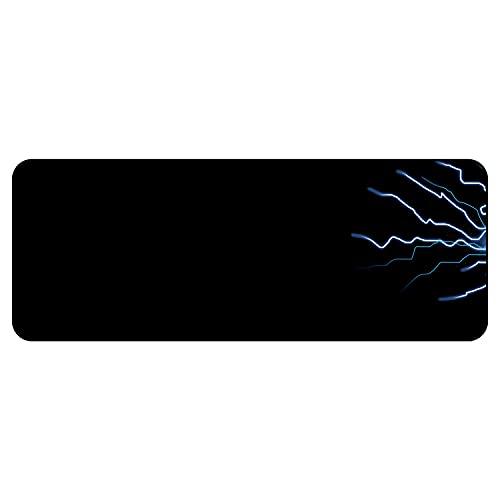 Alfombrilla de Ratón XXL, 80x30cm, Base Antideslizante, Superficie de Tejido, 3mm de Grosor, Alfombrilla para Escritorio, Alfombrilla Gamer, para PC y Portátil