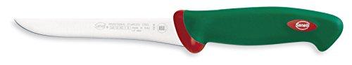 Sanelli Línea Premana Professional,Cuchillo Deshuesador Flexible Cm.16,Acero Inoxidable,Verde y Rojo,29.0x3.0x4.0 cm