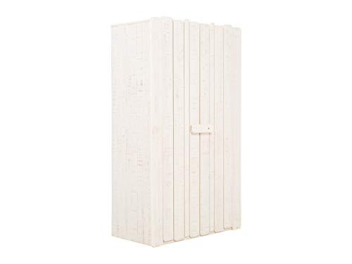massivum Kleiderschrank Safari 103x178x56 cm Pinie weiß lackiert