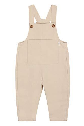 Camilife Baby Jungen Mädchen Denim Overall Weiche Jeans Hose mit Hosenträger Kinder Baumwolle Latzhose Süß Lieblich für Baby 1-4 Jahres alt - Beige Größe 80
