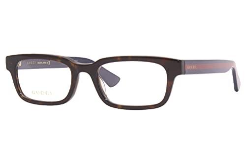 Gucci GG 0928O 006 Havana - Gafas rectangulares de plástico (52 mm), color azul