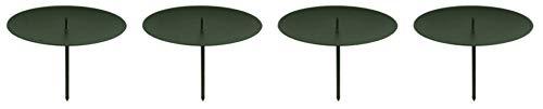 Novaliv 4X Kerzenpick | Dorn, 6 cm SCHWARZ | Kerzenhalter für Adventskranz Kerzenpin Weihnachtskranz