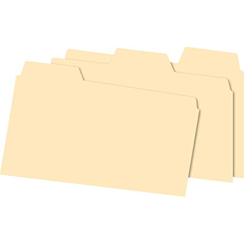 Office Depot Index Card Guides with Blank Tabs, 5in. x 8in, Manila, Pack of 100, OD513BUF