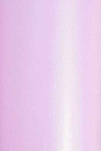 10x Perlmutt-Hell-Rosa 120g Papier DIN A4 210x297 mm Aster Metallic Candy Pink doppelseitig schimmernd glänzend Perlglanz Pearlpapier Glanzpapier Perlmuttglanz-Papier für Inkjet und Laser Drucker