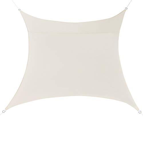 [en.casa] Sonnensegel Sandfarben Sonnenschutz UV-Schutz Sonnendach 200x200cm