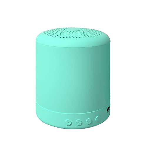 TreeLeaff Altavoz inalámbrico Bluetooth portátil mini USB 300 mah TF/FM/BT/AUX 4 modo disfrutar silicona táctil shell bajo gran volumen enlace rápido