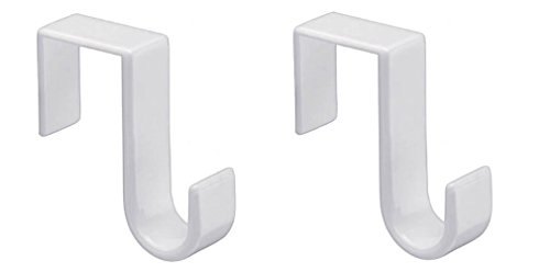 1st Choice Pack of 2 Over-The-Door Hook, White, W, 2 Count