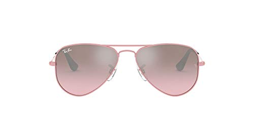 Ray-Ban Junior Unisex-Kinder Aviator Junior Brillengestelle, Pink (Pink/Pink Mirror Silver Gradient), 52