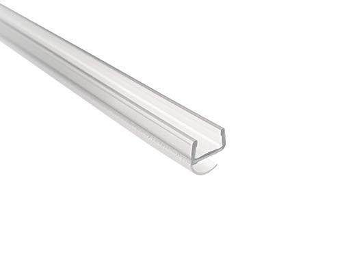 KRISTHAL Spaltdichtung mit offener Ballondichtung für 8 mm Glasdicke, 200 cm Länge, wasserabweisende Duschtürdichtung made in Germany, Art. Nr. 5130