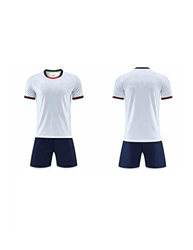 SHDBHD Camiseta de fútbol Ropa de Entrenamiento,Camisetas Deportivas de Fútbol para Adultos y Niños Camiseta y Pantalón Corto