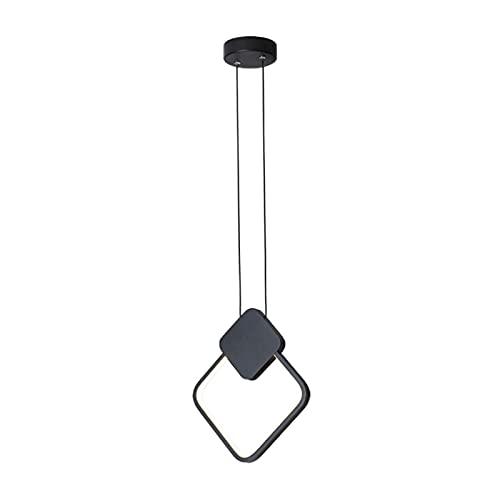 Dolity Teto de alumínio nórdico pendente moderno candelabro luz suspensa quarto sala de jantar lâmpada decorativa para sala de estar café corredor - Rômbico