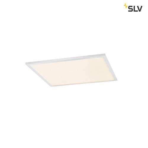 SLV VALETO Panel, LED Indoor Deckeneinbauleuchte, 600x600mm, UGR<19 Leuchte, Aluminium, 43 W, weiss