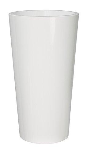 EURO3PLAST Vaso Expression Anglaise 2785.03 Pot de Fleurs Blanc Diamètre 33 cm