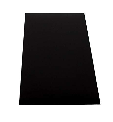ABS Kunststoff Platte 1000x490mm Farbe Schwarz in Stärken 3mm- Einseitige Schutzfolie - Top Qualität