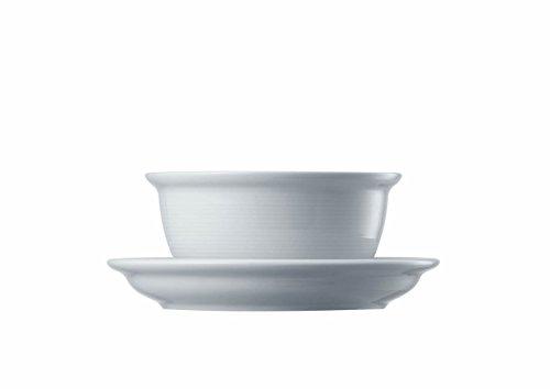 Thomas 10450 Trend Bouillontasse mit Untertasse, Suppentasse, Porzellan, Spülmaschinenfest Weiß, 330 ml, 2-tlg