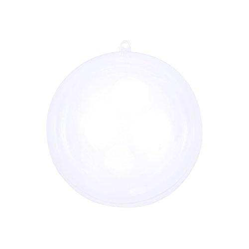 BESTOYARD Clear Plastic Ball Transparent Ball Christmas Tree Ornament Baubles 20cm