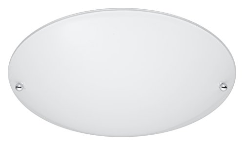 Preisvergleich Produktbild Trio Leuchten Deckenleuchte 6196011-01 Lana,  Metall aluminiumfarbig,  Glas opal matt weiß,  exkl. 1 x E27