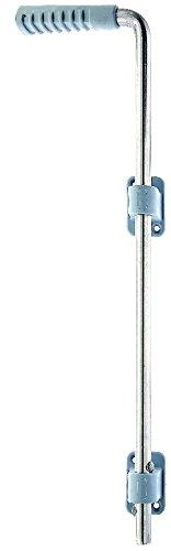 GAH-Alberts 326029 Bodenschieber, Edelstahl, mit zwei grauen Kunststoffführungen und Kunststoffgriff, Bolzen-Ø: 16 mm, 500 mm / 40 mm
