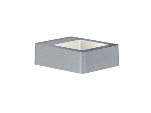 TRIO, Applique, Reno incl. 1 x LED,COB,4,5 Watt,3000K,450 Lm. Corps: Fonte daluminium, Titane L:12,0cm, H:4,5cm, P:14,0cm IP54,Point lumineux en haut et en bas,Montage au mur