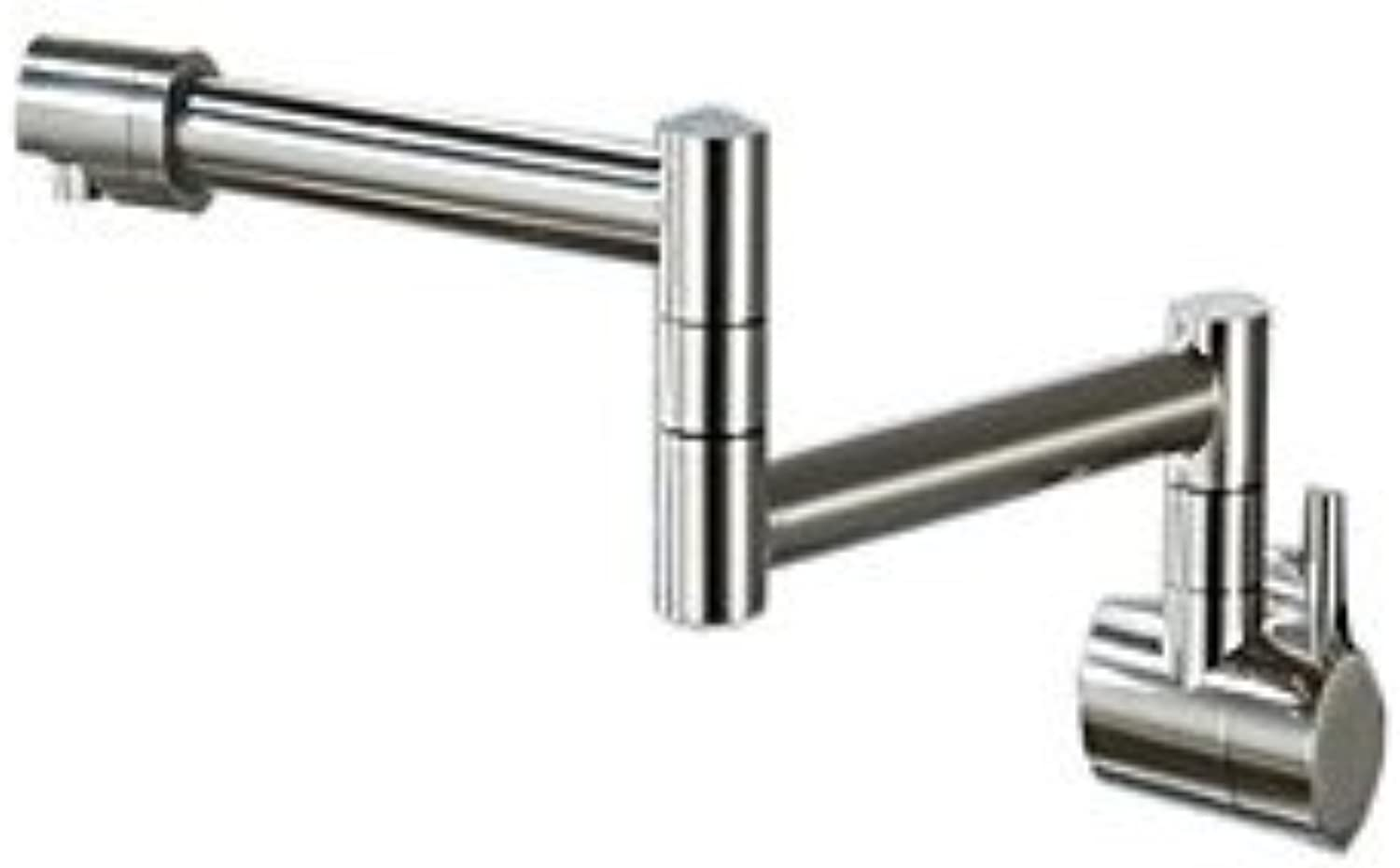 HZZymj-Wall mounted filler kitchen faucet two-joint swing brushed nickel