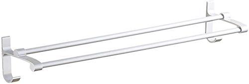 AINIYF Montado en la Pared del baño Plataforma de baño Ducha Organizador Estante de Toalla de Aluminio del Espacio Corte Libre Pegamento Barra Colgante (Color: # 2-40cm)