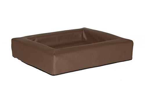 Comfort-Kussen 3CBED1-KL-BR comfort hondenmand kunstleer, 60x50x12 cm, bruin