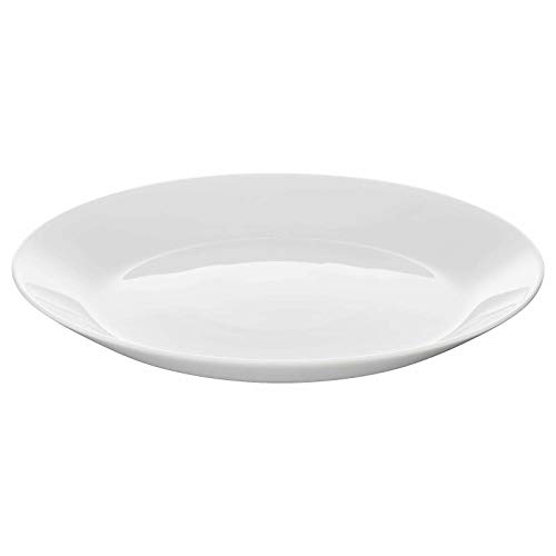 IKEA OFTAST weiße Speiseteller, seitliche und tiefe Teller und Schüsseln, Set zum Selbermachen (wählen Sie Typ: 4 x Beilagenteller) (4 x Beilagenteller)